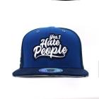 Yes, I Hate People - Custom Snapback Blue