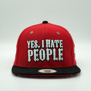 Yes, I Hate People - Custom Snaback Red