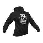 Girl Hoodie - Yes, I Hate People
